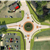 aerial photo of the stimson avenue roundabout