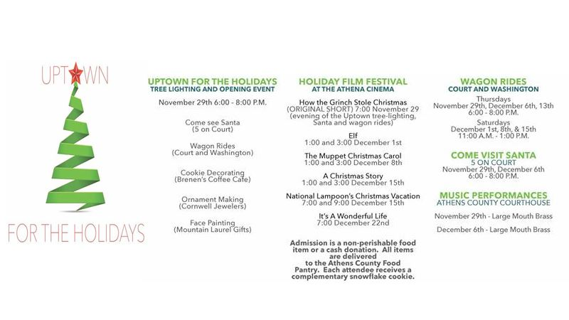 Uptown Holiday 2018 Schedule