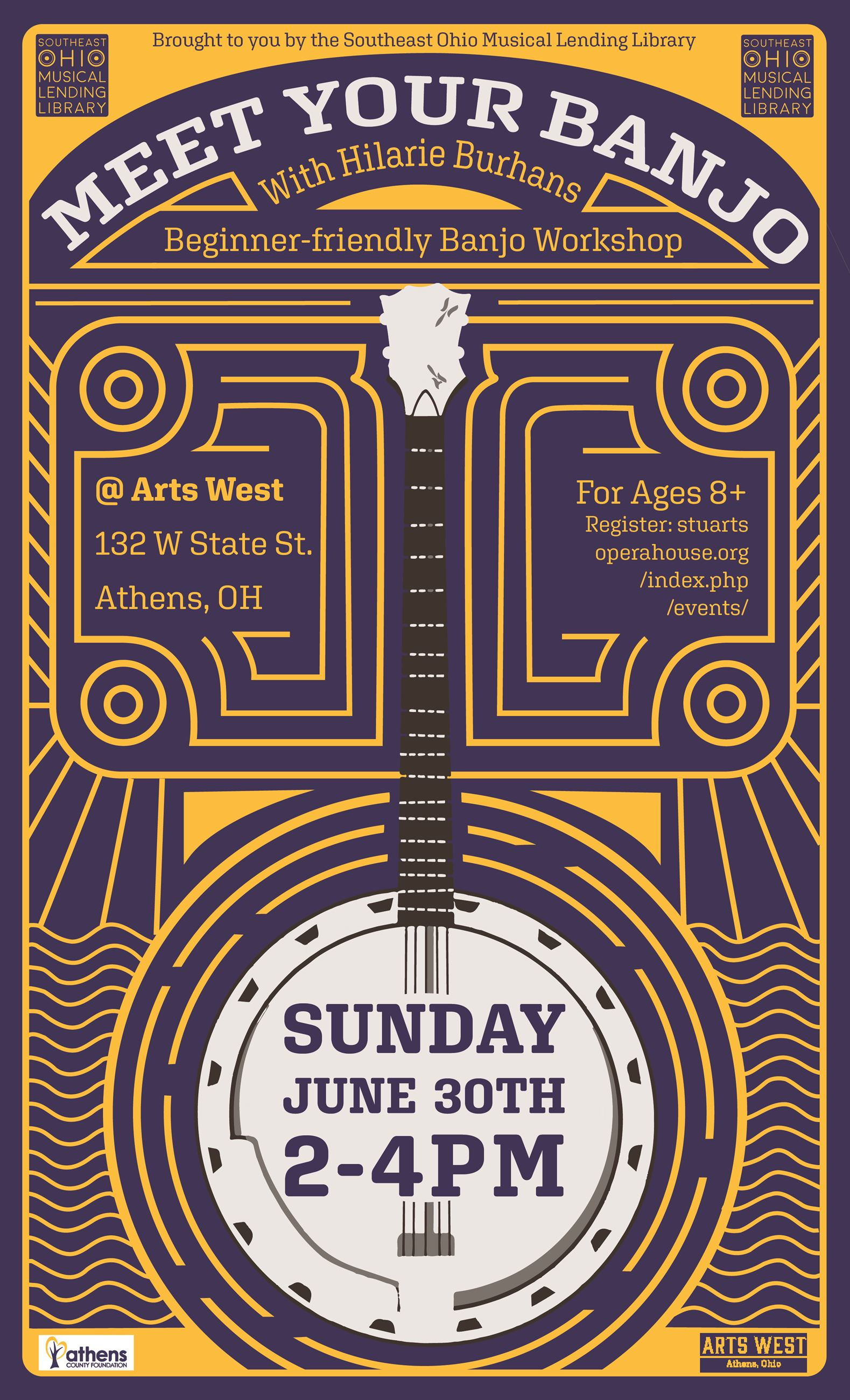SEO MLL Banjo Workshop Poster 6.2019