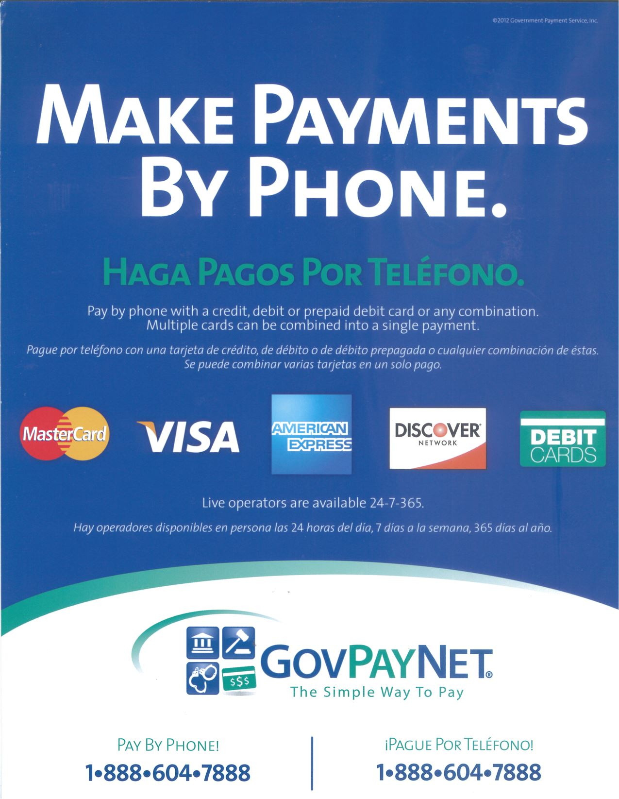 Make Payments by Phone Flyer