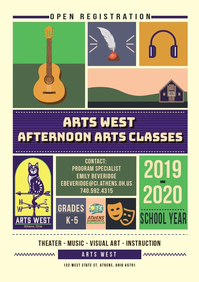 Afternoon Arts Classes Poster 8.2019
