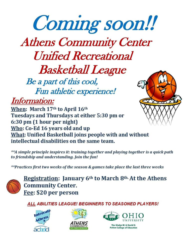 Unified Rec Basketball Flyer Color