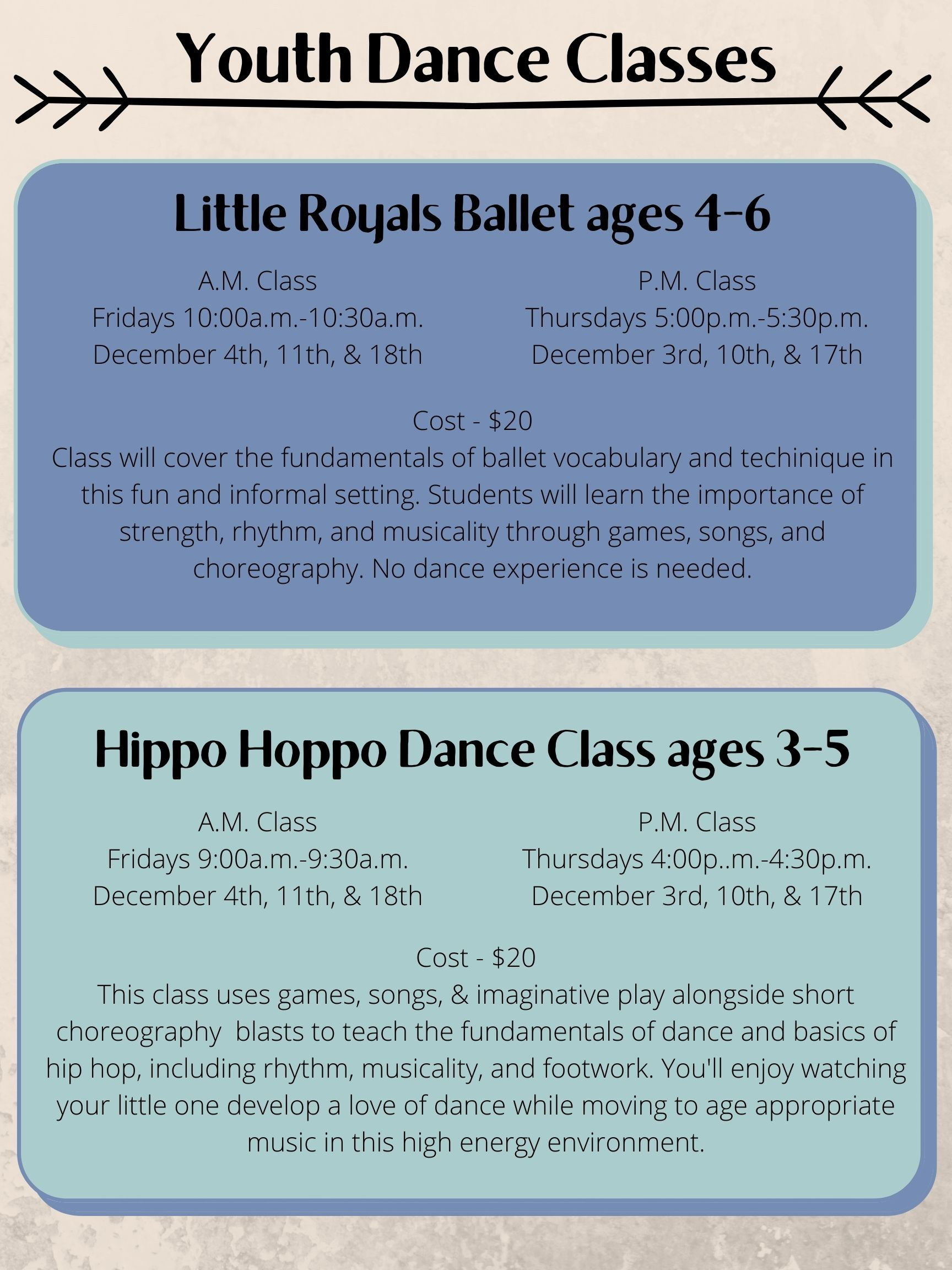 December 2020 Dance Class at ACC